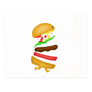 Runnin burger postcard