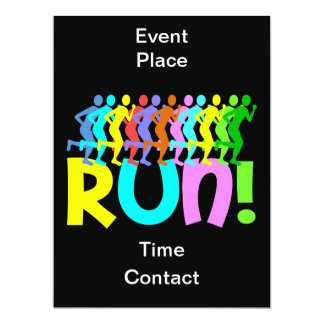 running 17 cm x 22 cm invitation card