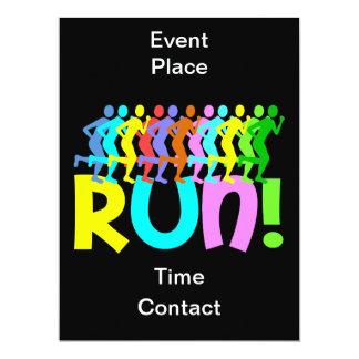 running 17 cm x 22 cm invitation card