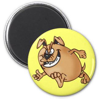 Running a Race Cartoon Dog 6 Cm Round Magnet