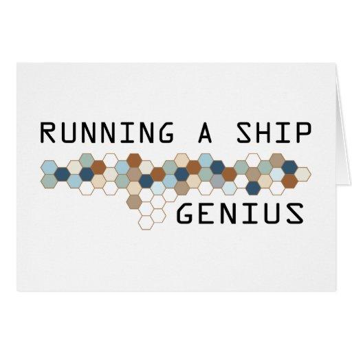 Running a Ship Genius Greeting Card