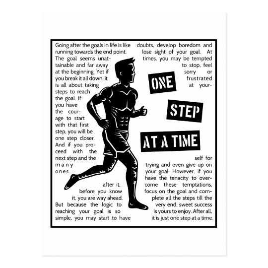 Running After Goals Motivational Determination Postcard