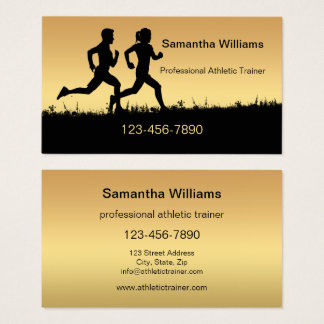 Running Athletics Sports Coach Business Card