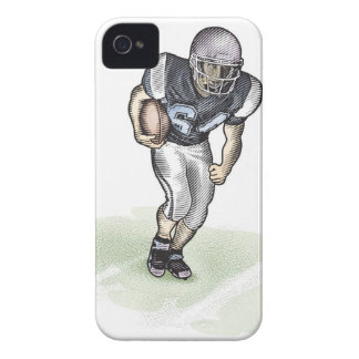 Running Back scratchboard illustration iPhone 4 Case-Mate Case