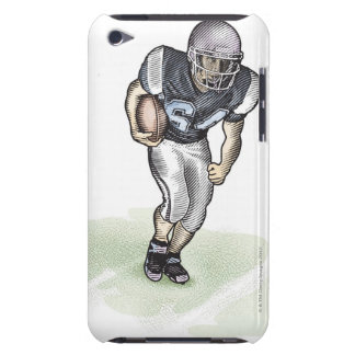 Running Back scratchboard illustration iPod Touch Cover