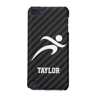 Running; Black & Dark Gray Stripes iPod Touch 5G Cases