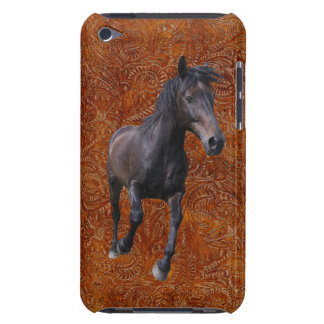 Running Black Percheron Horse-lover Equine Design Barely There iPod Case
