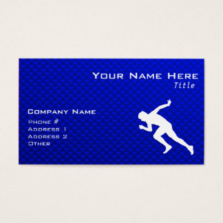 Running; Blue Business Card