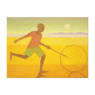 Running Boy 2010 Canvas Print