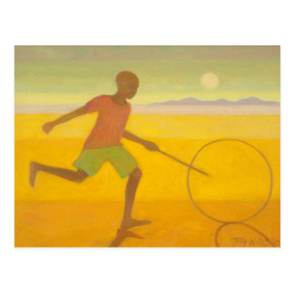 Running Boy 2010 Postcard