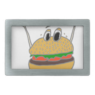running burger rectangular belt buckles
