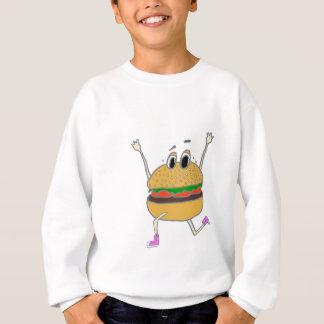 running burger sweatshirt