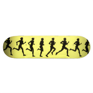Running Cartoon Art Skateboard