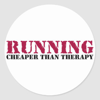 Running - Cheaper than therapy Classic Round Sticker