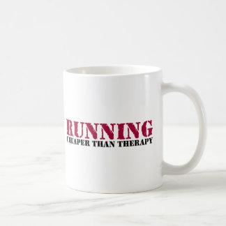 Running - Cheaper than therapy Coffee Mug