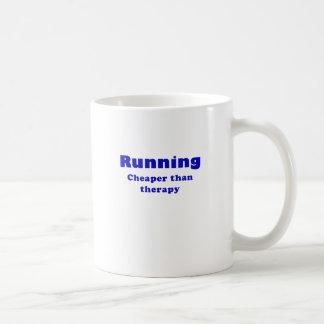 Running Cheaper than Therapy Classic White Coffee Mug