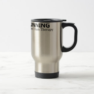 Running Cheaper Than Therapy T-Shirts.png Stainless Steel Travel Mug