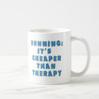 RUNNING:  CHEAPER THAN THERAPY Tshirts Mug