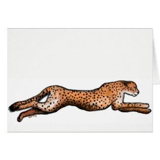 Running Cheetah Art Card