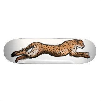 Running Cheetah Art Skateboard