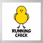 Running Chick Poster