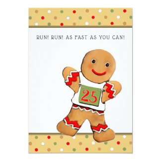 running Christmas greeting cards