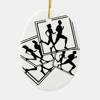 RUNNING CHRISTMAS ORNAMENT