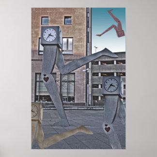 Running Clocks Poster Print