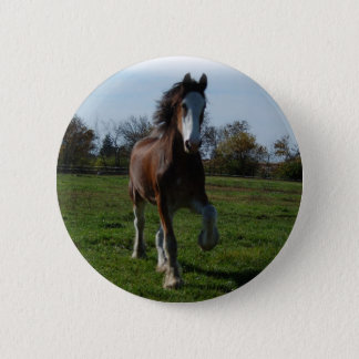 Running Clydesdale 6 Cm Round Badge
