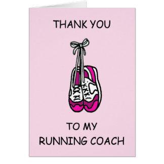 Running Coach Thanks Greeting Card
