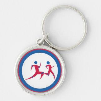 Running Couple Keychain