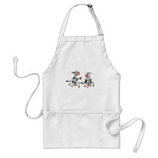 running cow 3 shirt adult apron