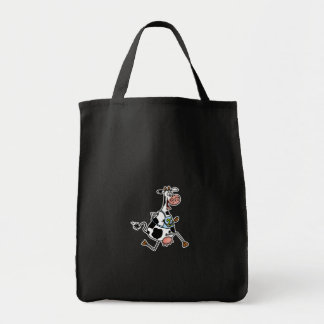 running cow tote grocery tote bag