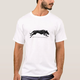 Running Deerhound Design with a Gaelic Proverb T-Shirt