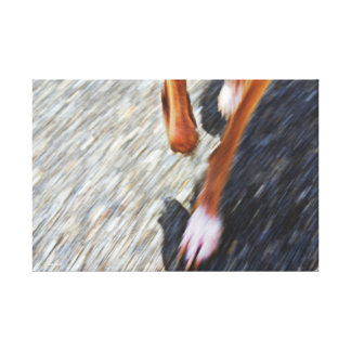 Running dog canvas print