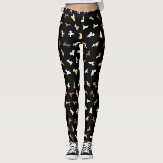 Running Dogs (Large Pattern) Leggings