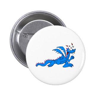 Running Dragon 6 Cm Round Badge