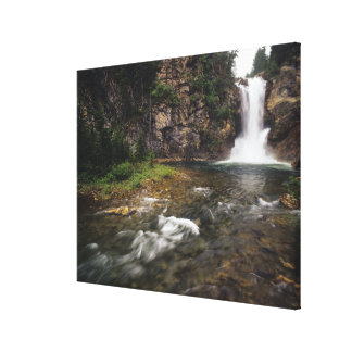 Running Eagle Falls aka Trick Falls in the Two Stretched Canvas Prints