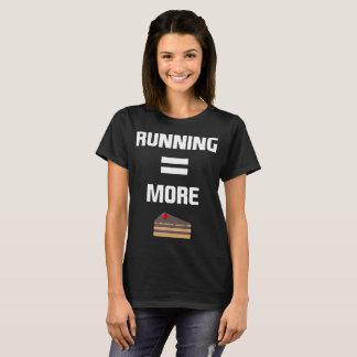 Running Equals More Cake Cardio Workout T-Shirt