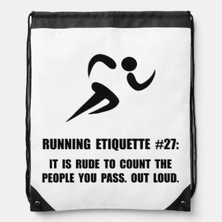 Running Etiquette Backpack