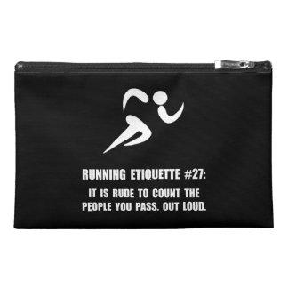 Running Etiquette Travel Accessories Bag