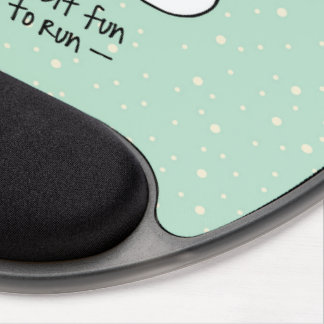 Running Exercise Reindeer Christmas Gel Mouse Mat