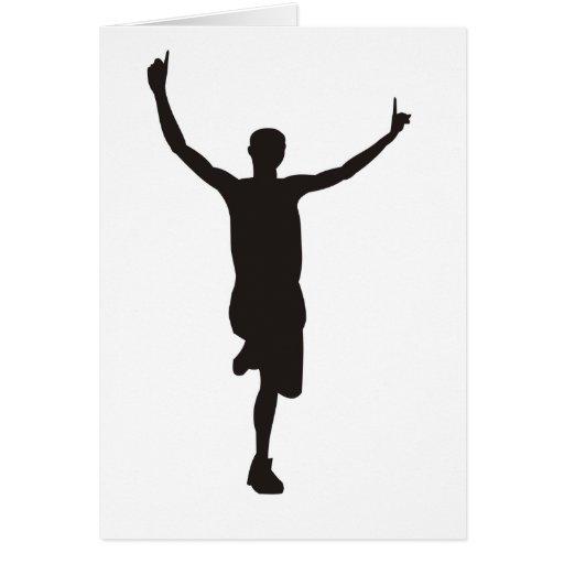 Running Finish Line Greeting Card