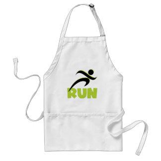 Running Fitness Run Green Standard Apron