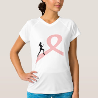Running for a cause - woman in pink T-shirt