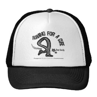 Running For A Cure Brain Cancer Trucker Hat