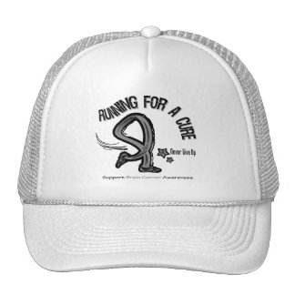 Running For A Cure Brain Cancer Mesh Hat
