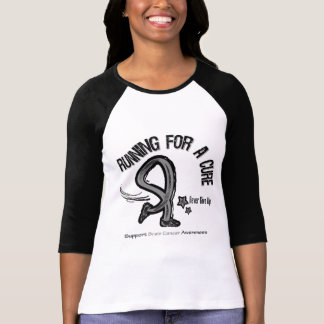 Running For A Cure Brain Cancer Tee Shirt