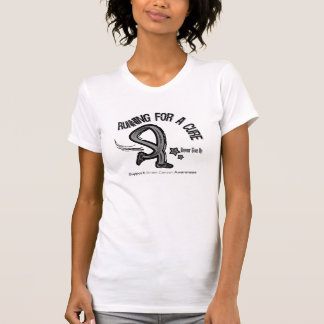 Running For A Cure Brain Cancer T-shirt
