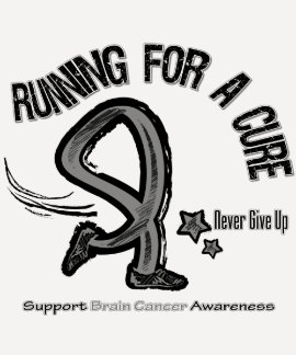 Running For A Cure Brain Cancer Tshirts
